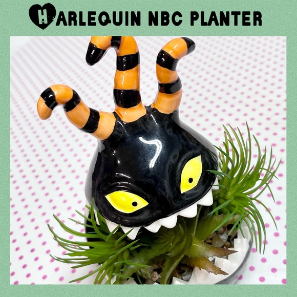 Harlequin Monster Plant Jar Nightmare Before Xmas